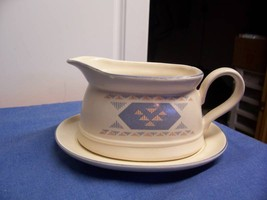 Intenational China Southwest Design Gravy Boat Dish Plate - $12.01
