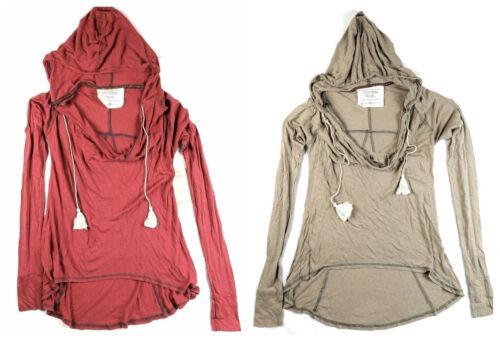 Small Women's California MoonRise Shirt Lightweight Hooded Long Sleeve NEW