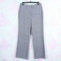 Ann Taylor 6 Blue White Tweed Wide Leg Stretch Linen Silk Cotton Dress P... - $29.69