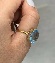 18k Topaz Yellow Gold Ring Size S BHS PLUS SIZE - $587.96