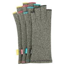 IMAK Compression Arthritis Gloves (Small, Gray with Sapphire Stitching) by Imak - $18.99