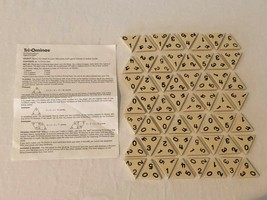 Tri Ominos Board Game Replacement Parts Pieces Instructions 56 Tiles Off... - $9.99