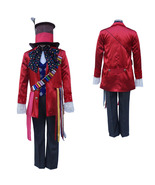 Alice in Wonderland Electric Mad Hatter Cosplay Costume Set With Hat - $139.91