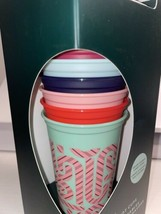 New Starbucks Color Changing Christmas Hot Cups 2020 Cane Design - $37.39