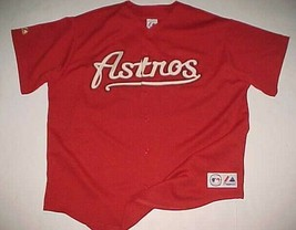 Houston Astros Roger Clemens #22 MLB NL 2004-2006 Brick Red Scripted Jersey 2XL - $89.09
