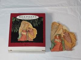 HALLMARK Keepsake Ornament 1995 A Child has come the World Rejoices! Bab... - $11.87
