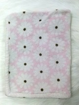 Carters Baby Blanket Girl Daisy Flower Daisies Pink White Sherpa Floral ... - $14.99