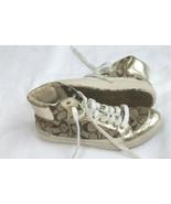 COACH Ellis Signature C Logo Canvas Gold High Top Sneakers Size 7 M Shoes - $34.65