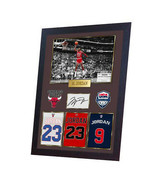 Michael Jordan NBA Chicago Bulls Signed Autograph Print photo JORDAN Framed - $21.90