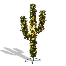 Artificial Cactus Christmas Prelit Tree with Ball Ornaments and Stand - $79.99+