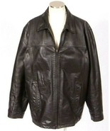 M Julian Wilsons Bomber Jacket Heavy Black Leather Quilt Lined Field Men... - $22.76