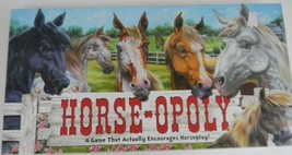Horse-Opoly Monopoly Board Game Complete 2-6 Players Ages 8+ Horses w/ T... - $4.94