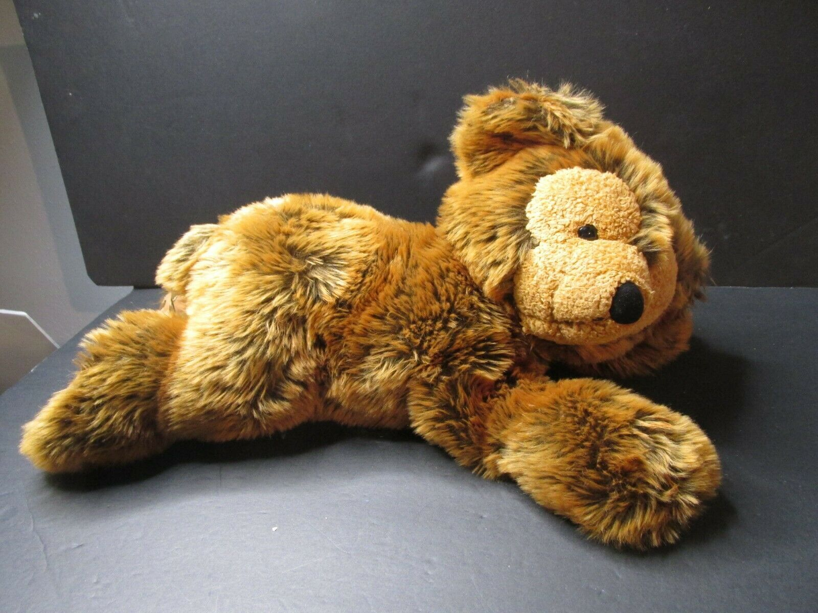 "Primary image for Disney Pre Duffy Hidden Mickey 17"" Plush Brown Bear Laying Down RARE"
