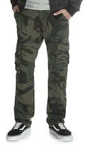 Wrangler Boys Flex Cargo Slim Fit Pant Green Camo 9RKHW7E Size 12 Regular - $37.61