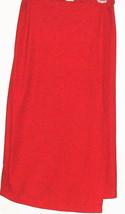 WOMEN'S RED WRAP ELASTIC COMFORT WAIST BAND SKIRT SIZE L - $10.00