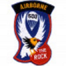 US Army 503rd Airborne Infantry Regiment (AIR) Patch The Rock - $9.89