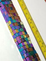 "6mm Rainbow Magnetic Hematite Square Cube Beads 15.5"" Strand image 3"