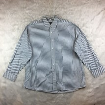 Vintage Van Heusen Striped Long Sleeve Button Down Casual Shirt Size 17 ... - $17.06