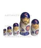"Chicago Cubs nesting doll matryoshka doll babushka doll 5 pc, 6"" - $59.90"