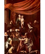 Rosary Madonna by Caravaggio - Framed Canvas Print Ready to Hang - $55.00+