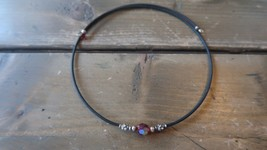 """18"""" Sterling Red Iridescent Bead Necklace - $8.90"""