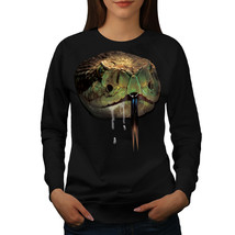 Snake Beast Wild Animal Jumper Reptile Women Sweatshirt - $18.99