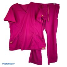 Med Couture Vivi Sherry Scrub Tunic Top Scrubs Boot Pants XL & XLP Dark ... - $39.99