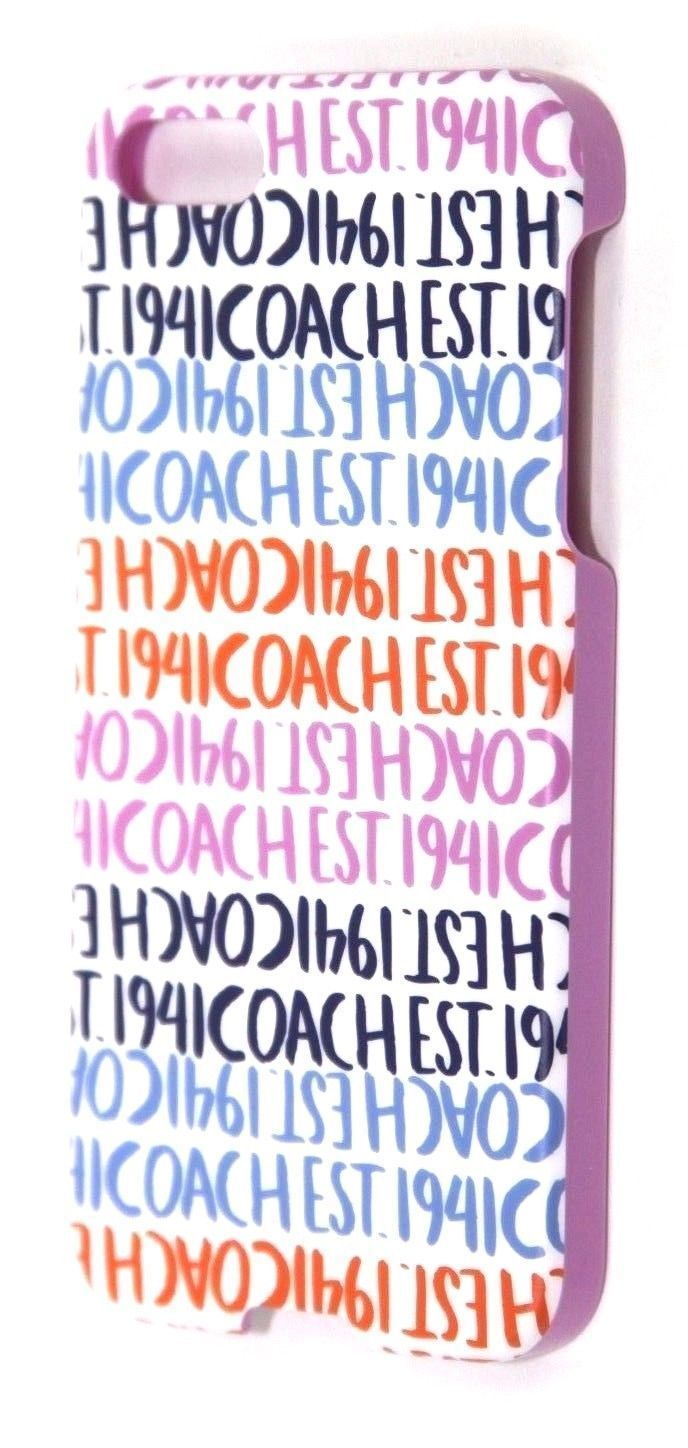 New COACH Chambray Double Multi Stripe Hard Plastic iPhone 5 Case 64698B $38