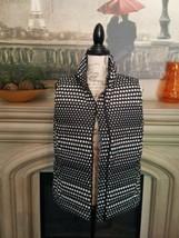Talbots Zip light Puff Polka Dot Vest Size MP (8/10) - $14.10