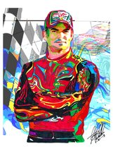 "Jeff Gordon, Nascar, Stock Car Racing Driver, Chevrolet SS, 18""x24"" Art ... - $19.99"