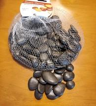 Polished Black River Rocks, 1 pound / 16 oz, Decorative Accent Brown Stones image 5
