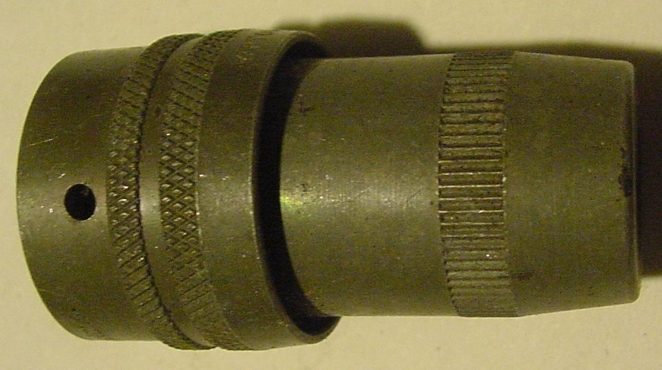 NOS Military Bendix 3 Pin Female Power Connector with Black Insulator, PT06W-12-