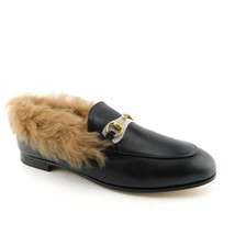 New Gucci Size 10 Jordaan Fur Lined Horse Bit Loafers Flats Shoes 41 Eur - $849.00