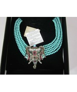 Heidi Daus Super Chic Sheik 6 Strand Beaded Crystal Drop Necklace Elephant - $445.49