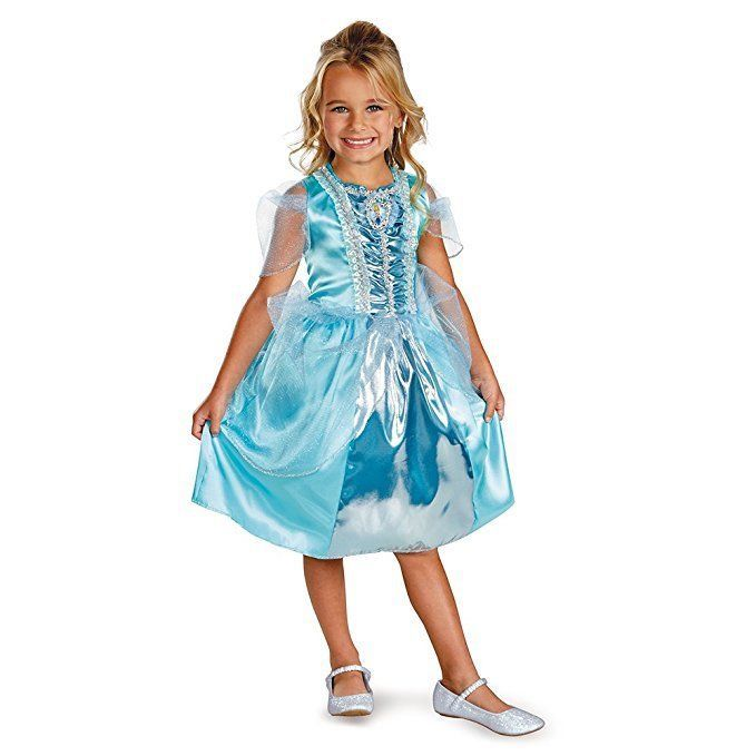 Primary image for NEW Disney Cinderella Sparkle Classic Child Halloween Costume by Disguise, M