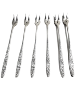 Alpine 1892 Rogers Specialty Lot of 6 Silverplate Appetizer Seafood Forks  - $53.99