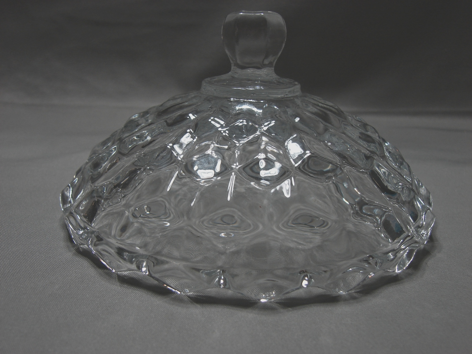 "Indiana Glass - Whitehall Clear Pattern - Lidded Candy Dish - 5.25"" Round"