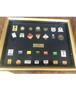 Framed vintage 1992 USA Olympic Committee Winter Summer Games Collector Pin Set - $49.99