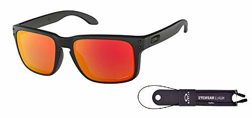 Oakley Holbrook OO9102 Sunglasses For (55 Millimeters|Matte Black/Prizm Ruby)
