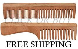 Handcrafted Neem Wood Comb Anti Dandruff Eco-friendly Good for Scalp Hai... - $11.87