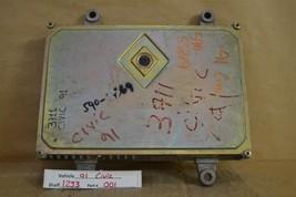 1990-1991 Honda Civic CRX AT Engine Control Unit ECU 37820PM5L80 Module 01 12J3 - $26.72
