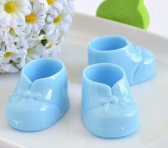"""6 Light Blue Baby Booties 3"""" Baby Shower Birthday Gifts Gender Reveal Fa... - $7.99"""