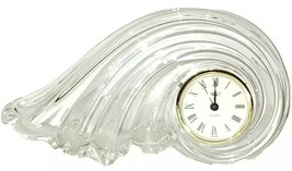 MIKASA Crystal Quartz Clearwater Wave Germany Desk Mantle Clock - $24.75