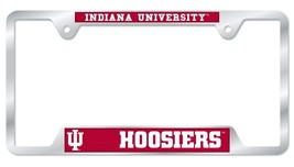 Indiana Hoosiers Heavy Duty Chrome Metal License Plate Frame - $13.95