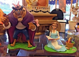 Disney Parks Beauty and The Beast Belle and Beast Medium Figure Set New - $193.98