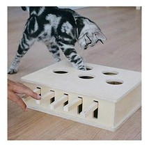 """Wellucky Interactive Cat Toys Whack a Mole Solid Wood Puzzle Box 12.8""""×1... - $57.48"""