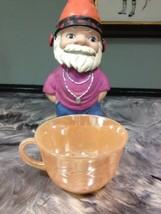 Vintage Peach Luster Laurel Leaf Coffee Cup By Fire King - $4.99