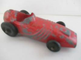 Hubley Kiddie Toy Die Cast Indy Race Car Red - $15.83