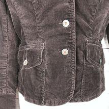 Tommy Hilfiger Corduroy Blazer Jacket Women's S Brown Stretch Button Long Sleeve image 3