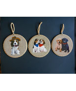DOG Theme WALL PLAQUES Set of 3 Mat Hot Plate Trivet Spoon Rest Puppies NEW - $22.99